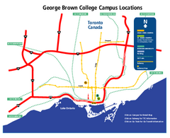 George Brown College Campus Map