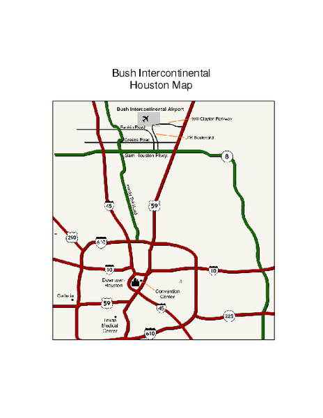 George Bush Intercontinental Airport Terminal Map