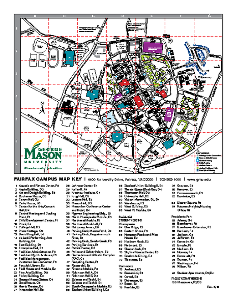 George Mason University Map George Mason University Mappery