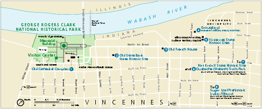 George Rogers Clark National Historical Park Official Map