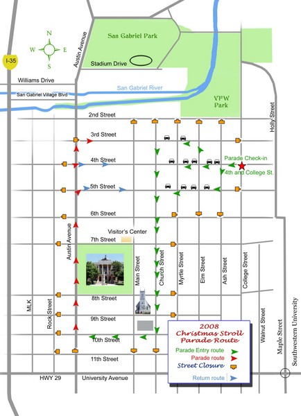 Georgetown Christmas Stroll Paradise Route Map