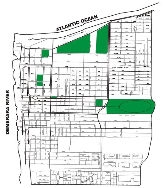 Georgetown Street Map Georgetown Guyana mappery