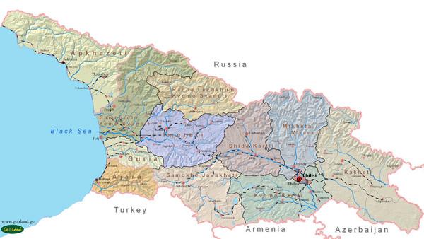 Map Of Europe Georgia