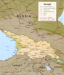 Georgia Administrative Map Georgia Asia mappery