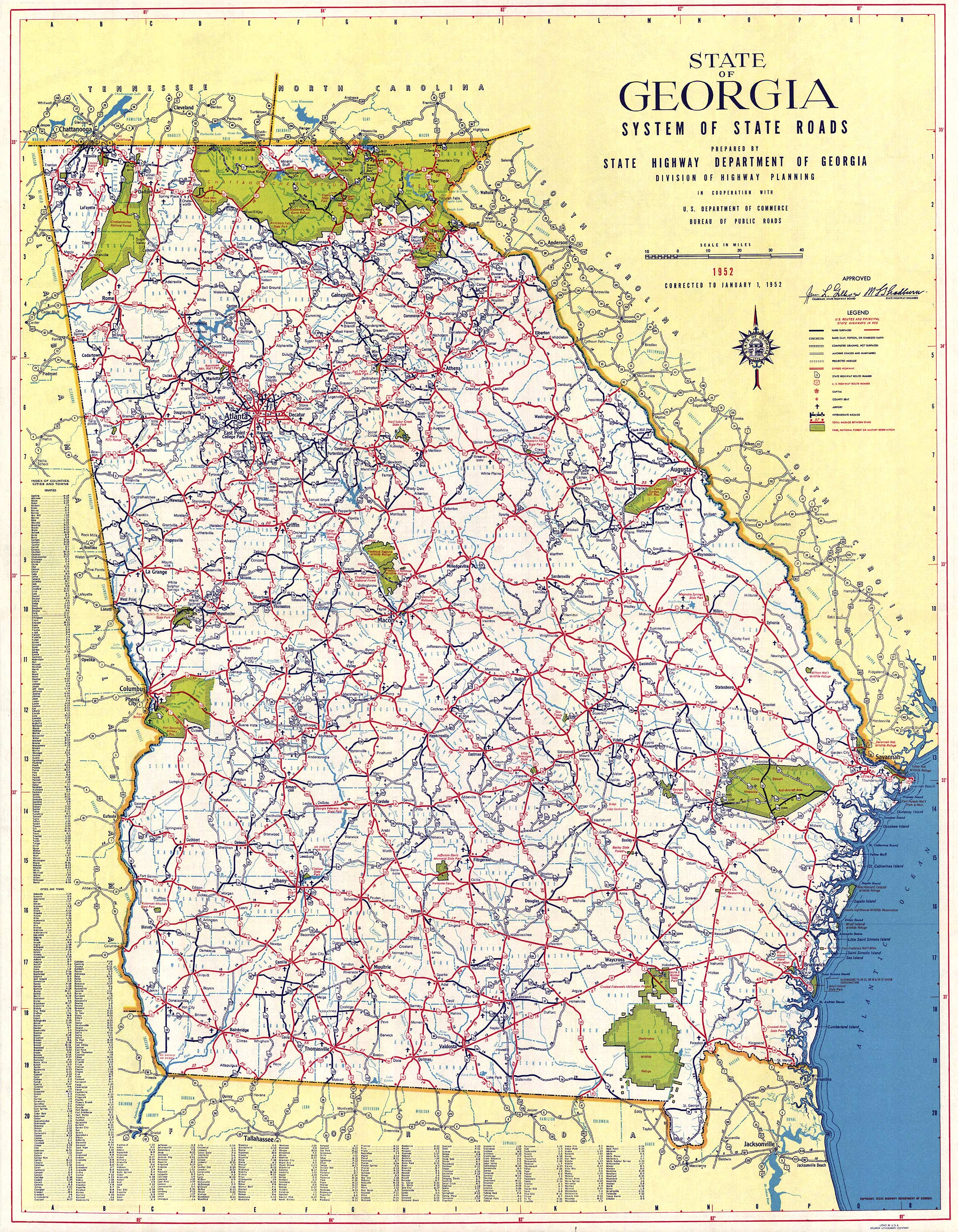 Georgia Road Map Georgia Mappery - Map of north ga
