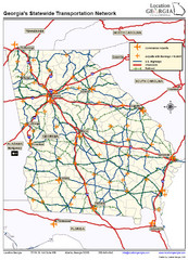 Georgia Transportation Map