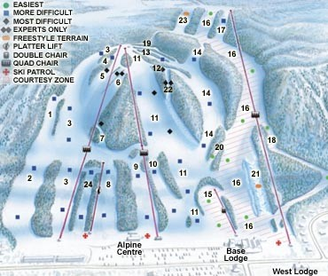 Georgian Peaks Club Ski Trail Map