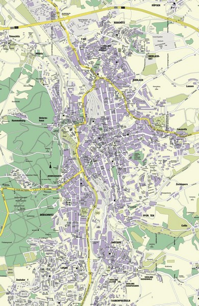 Gera Germany  city images : Gera City Map Gera Germany • mappery