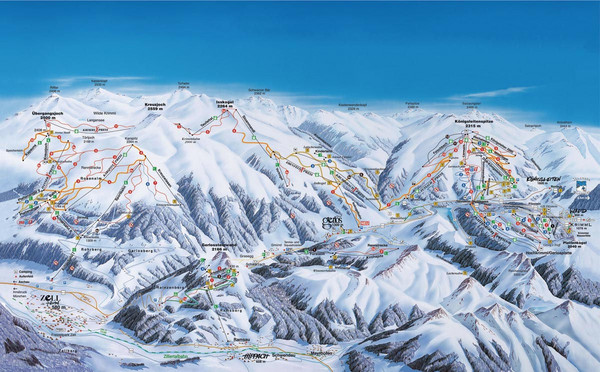 Gerlos Ski Resort Map