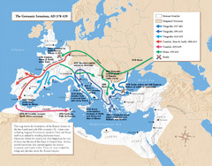Germanic Invasions Map 378-439