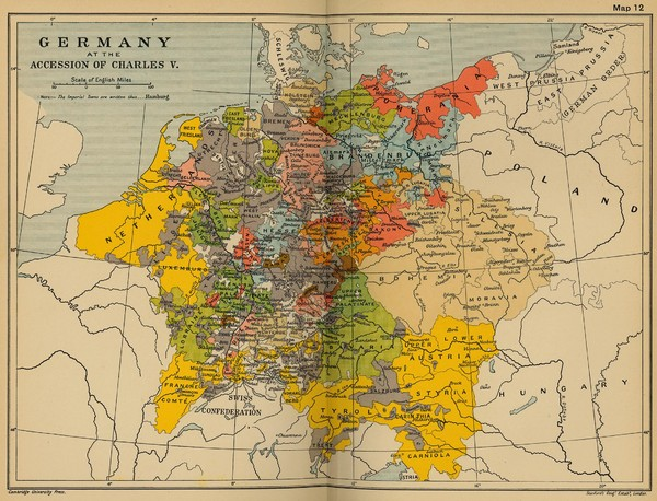 Germany 1519 Historical Map Germany mappery