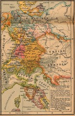 Germany Italy 1806 Map
