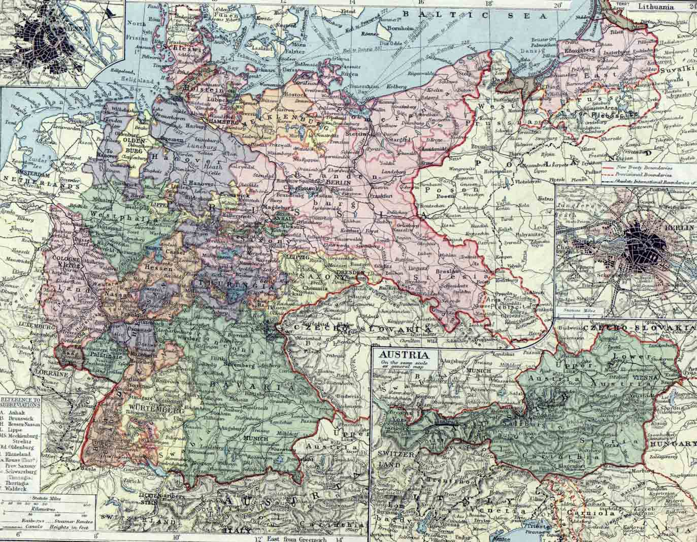 Germany and Austria Map - germany • mappery