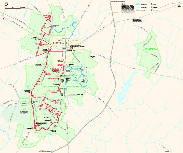 Maps Us Map Gettysburg - Gettysburg us map