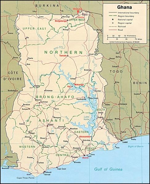 Ghana Map Ghana Africa Mappery - Ghana africa map