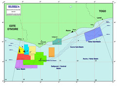 Ghana Oil and Gas Map