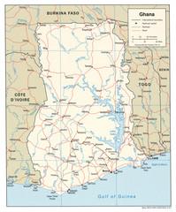 Ghana Tourist Map Ghana mappery