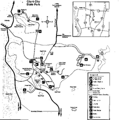 Giant City, Illinois Site Map