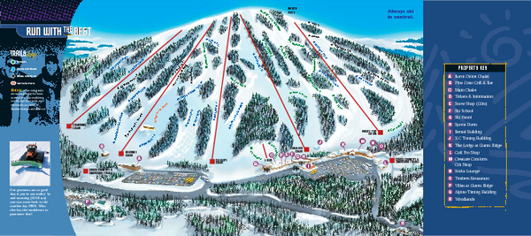 Giants Ridge Resort Ski Trail Map