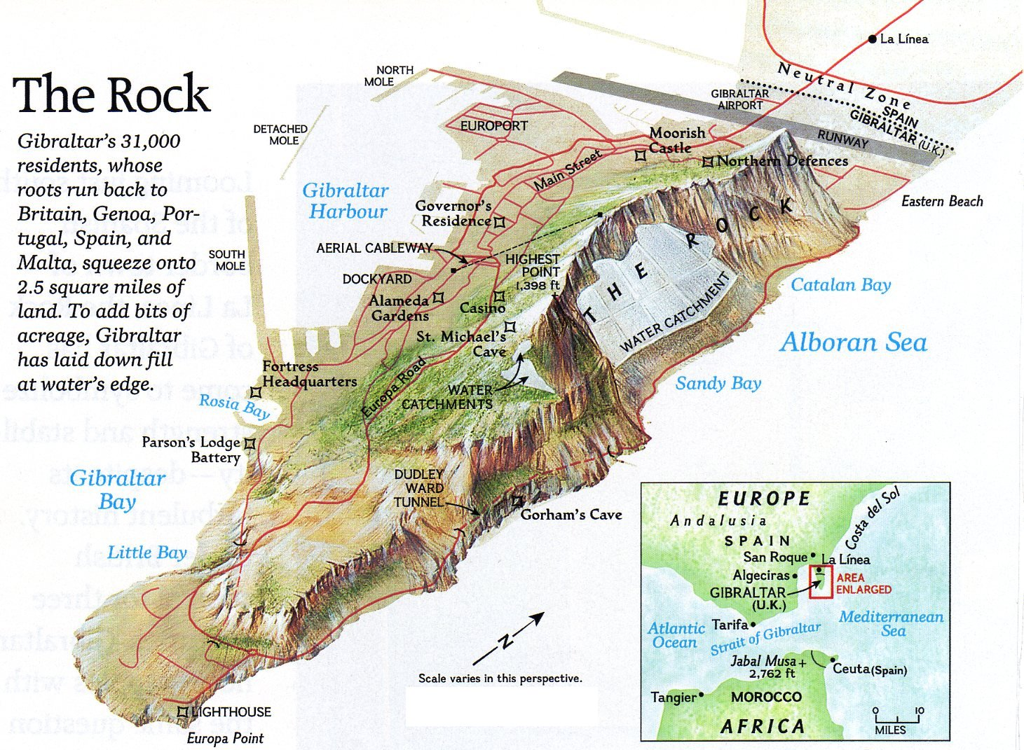 Rock Gibraltar Map Image Gallery HCPR
