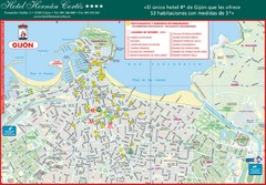 Gijon Tourist Map