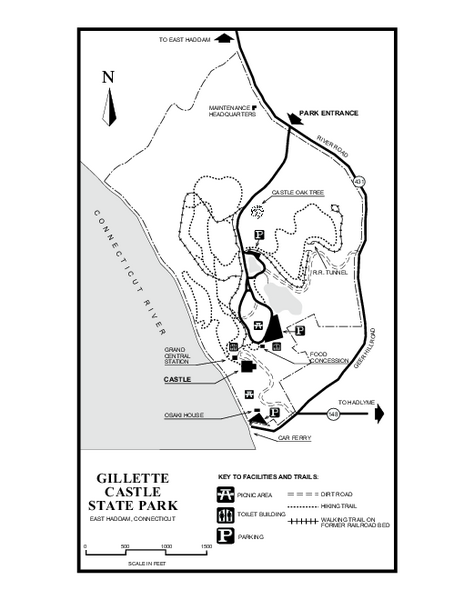 Gillette State Park trail map