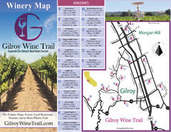 Gilroy Wine Tasting Map