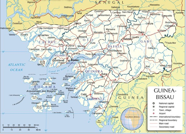 GineaBissau Admin Map mappery
