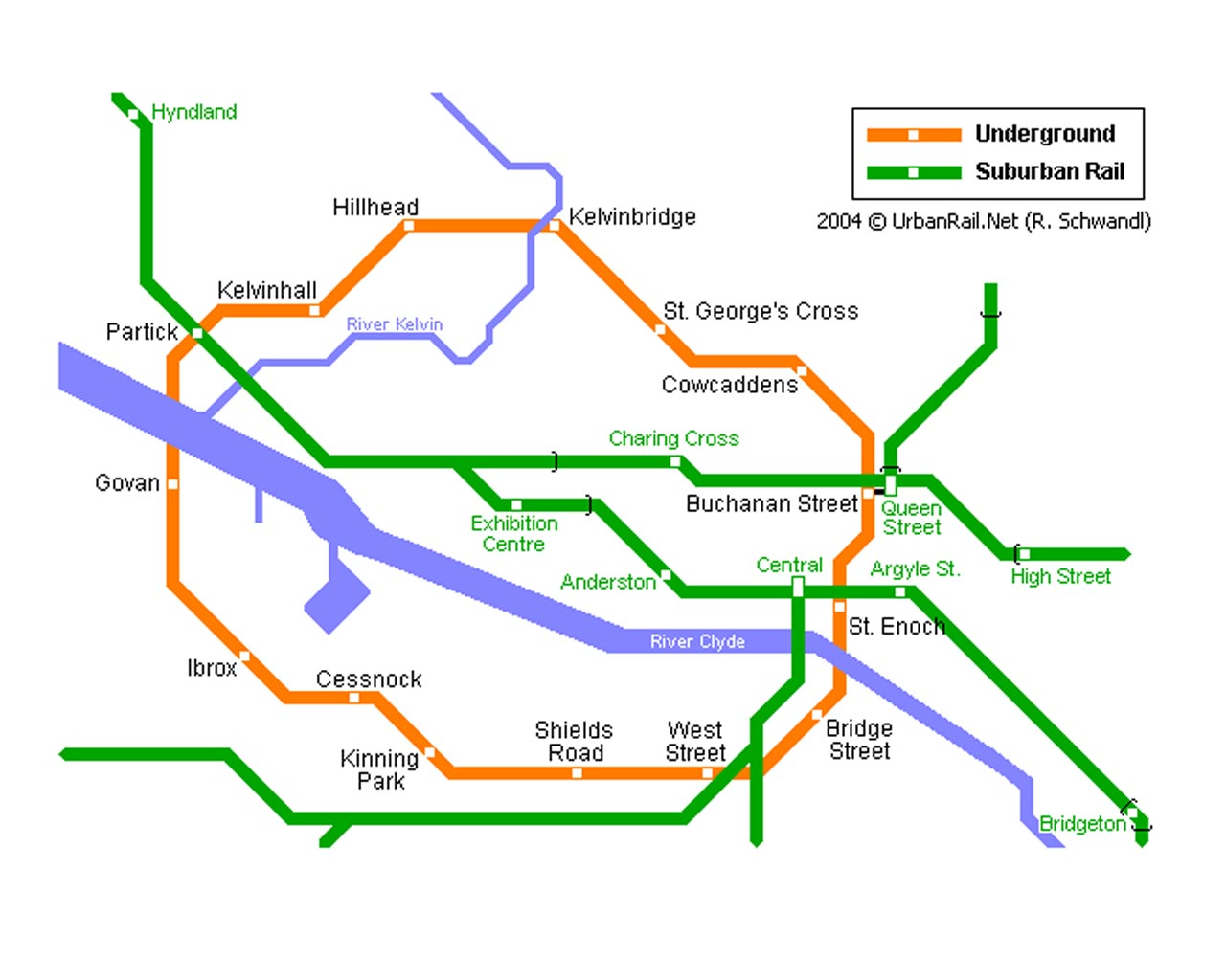 Glasgow Subway Map - Glasgow ...