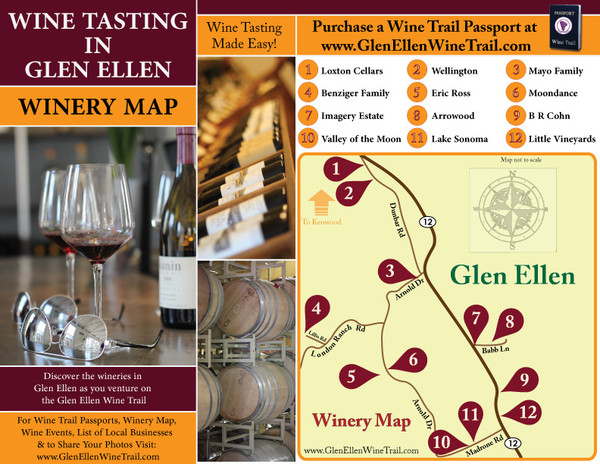 Glen Ellen Wine Tasting Map