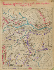 Glendale, Virginia Battle Map