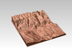 Glenwood Springs, CO carved by CarvedMaps.com Map