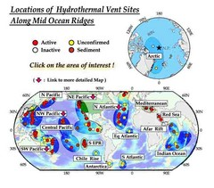 Global Map of  Hydrothermal Vents