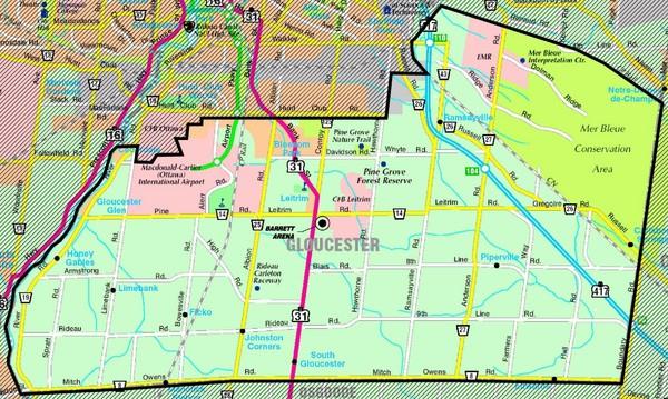 gloucester map gloucester ontario ca mappery