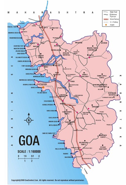 View LocationView Map. click for. Fullsize Goa India Road Map