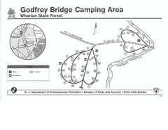 Godfrey Bridge Campground Map