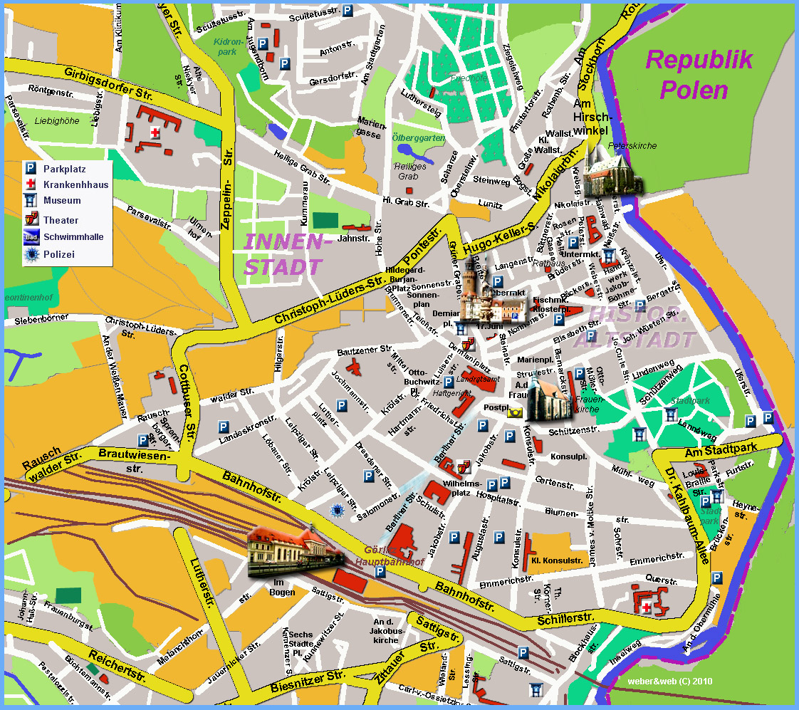 Goerlitz Tourist Map Goerlitz Germany mappery – Munich Tourist Map