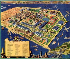 Golden Gate International Expo Cartograph 1939 Map