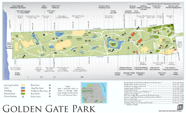 Golden Gate Park Map