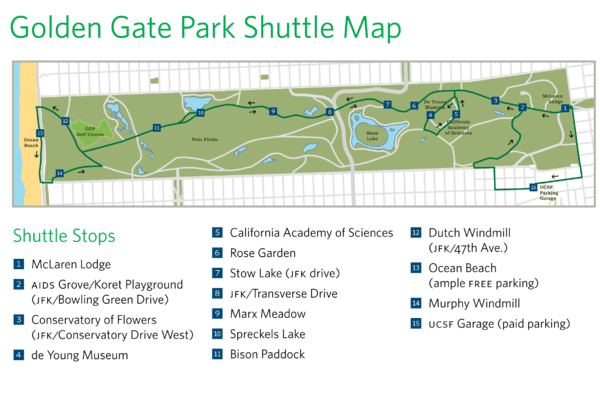Golden Gate Park Shuttle Map