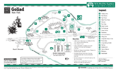Goliad, Texas State Park Facility and Trail Map