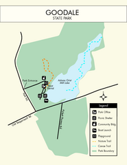 Goodale State Park Map
