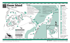 Goose Island, Texas State Park Facility and Trail Map