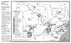 Gooseberry Falls State Park Winter Map