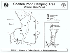 Goshen Pond camp area map