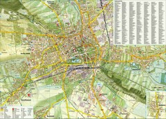 Erfurt Tourist Map Erfurt Germany mappery