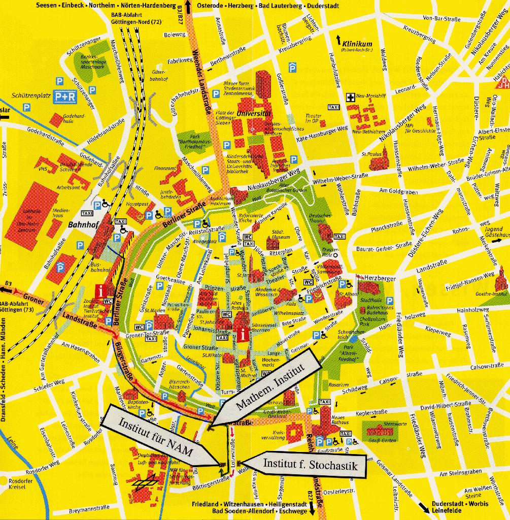 Gottingen City Map Gottingen Germany Mappery - Germany map gottingen