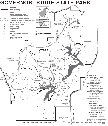 Governor Dodge State Park Map