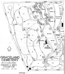 Graceland Cemetery Map