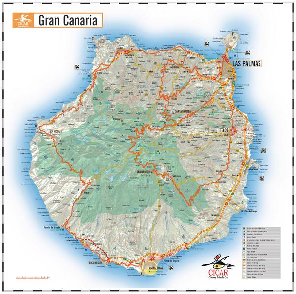 Las Palmas Tourist Map Las Palmas de Gran Canaria Spain mappery